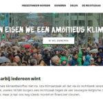 Foto screenshot van website: Tekort van 73.000 euro voor Klimaatzaak