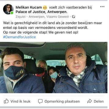 Reactie Melikan Kucam na veroordeling.